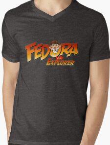 Fedora the Explorer Mens V-Neck T-Shirt