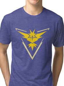 Pokemon GO - Team Instinct (Yellow) Tri-blend T-Shirt