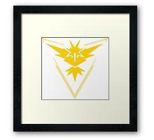 Pokemon GO - Team Instinct (Yellow) Framed Print