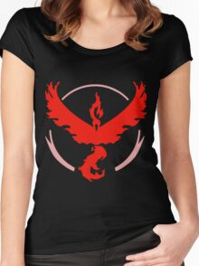 Pokemon GO - Team Valor (Red) Women's Fitted Scoop T-Shirt