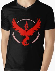 Pokemon GO - Team Valor (Red) Mens V-Neck T-Shirt