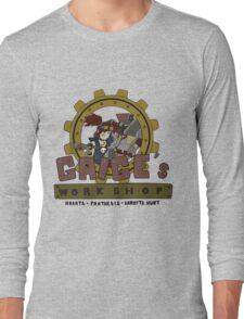 Gaige's Workshop (for light color tees) Long Sleeve T-Shirt