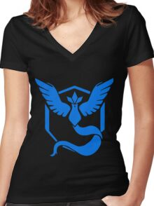 Pokemon GO - Team Mystic (Blue) Women's Fitted V-Neck T-Shirt