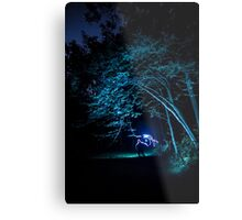 Arched tree with light paint Metal Print