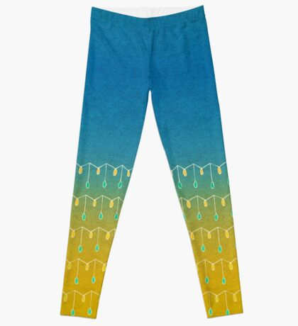 Droplets, Blue and Yellow Leggings