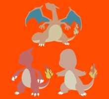 Kanto Starters - The Charmander Evolutions by Racheya