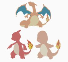 Kanto Starters - The Charmander Evolutions Kids Clothes