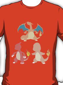 Kanto Starters - The Charmander Evolutions T-Shirt
