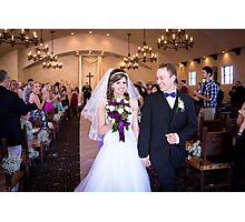 Tucker Wedding - Down The Aisle Photographic Print