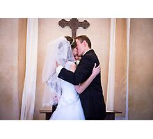 Tucker Wedding - First Kiss Photographic Print