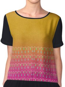 Droplets, Orange and Pink Women's Chiffon Top