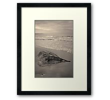 Driftwood - Good Harbor Beach Toned Framed Print