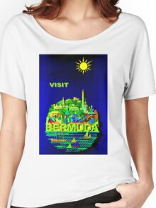 """BERMUDA"" Vintage Travel Advertising Print Women's Relaxed Fit T-Shirt"