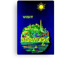 """BERMUDA"" Vintage Travel Advertising Print Canvas Print"