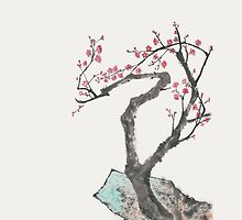 Plum Blossom with Rocks by artgarden