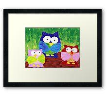 owl trio Framed Print