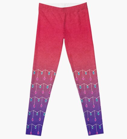 Droplets, Pink and Purple Leggings
