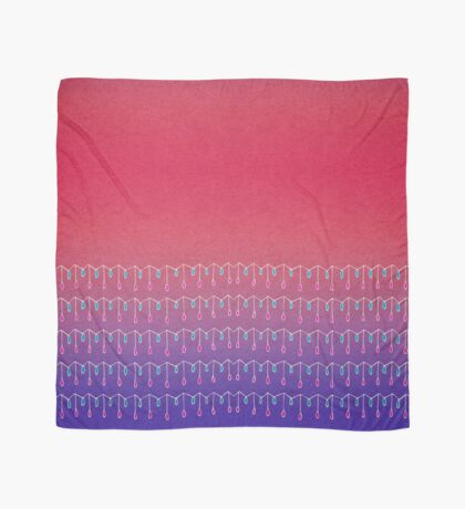 Droplets, Pink and Purple Scarf