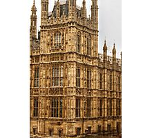 Architectural Details on the House of Parliament Photographic Print