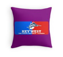 Key West Sport Fishing Throw Pillow