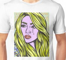 Pop Art Blonde Crying Comic Girl Unisex T-Shirt