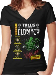 Tales From The Eldritch Women's Fitted V-Neck T-Shirt