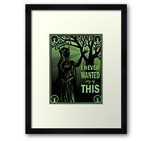 Keyleth's Confession Framed Print