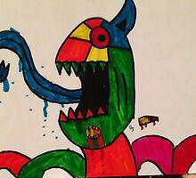 Blue Tongue Gobble by kitseallyboy
