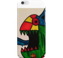 Blue Tongue Gobble iPhone Case/Skin