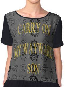 Carry On My Wayward Son Women's Chiffon Top