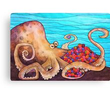 The Fruitarian Octopus. Canvas Print