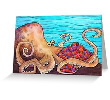 The Fruitarian Octopus. Greeting Card