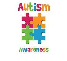 Autism Awareness Puzzle Photographic Print