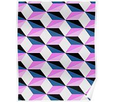Geometric Cube Pattern Poster