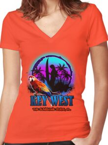 Key West Water Sport Women's Fitted V-Neck T-Shirt