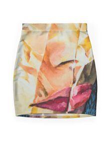 CRINKLE PORTRAIT Mini Skirt