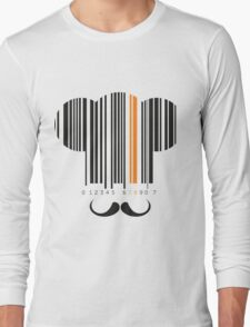 Chef hat mustache codebar design Long Sleeve T-Shirt