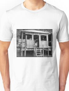 Village Life ~ Black & White Unisex T-Shirt