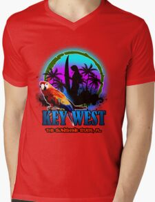 Key West Paradise Mens V-Neck T-Shirt