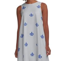 A-Line Dress - Snorkel Blue on Serenity A-Line Dress