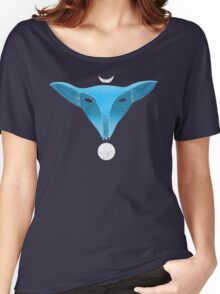 Blue fox mask with moons Women's Relaxed Fit T-Shirt