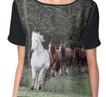 """""""The Herd"""" Horses Coming Home Chiffon Top"""