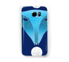 Blue fox mask with moons Samsung Galaxy Case/Skin