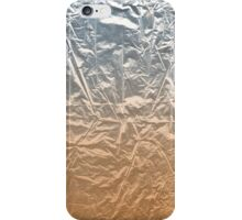 Decadent texture silver and orange degraded  iPhone Case/Skin