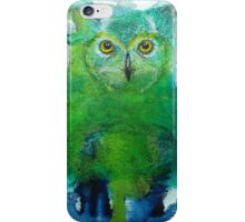 Aqua Abstract Owl iPhone Case/Skin