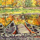 Canadian Canoes by christine purtle