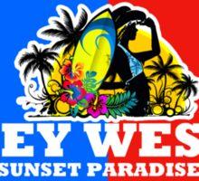 Key West Sunset Island Sticker