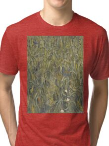 Vincent Van Gogh - Ears Of Wheat. Field landscape: field landscape, nature, village, garden, flowers, trees, sun, rustic, countryside, sky and clouds, summer Tri-blend T-Shirt