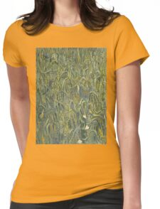 Vincent Van Gogh - Ears Of Wheat. Field landscape: field landscape, nature, village, garden, flowers, trees, sun, rustic, countryside, sky and clouds, summer Womens Fitted T-Shirt