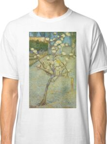 Vincent Van Gogh - Small Pear Tree In Blossom. Still life with flowers: flowers, blossom, nature, botanical, floral flora, wonderful flower, plants, cute plant for kitchen interior, garden, vase Classic T-Shirt